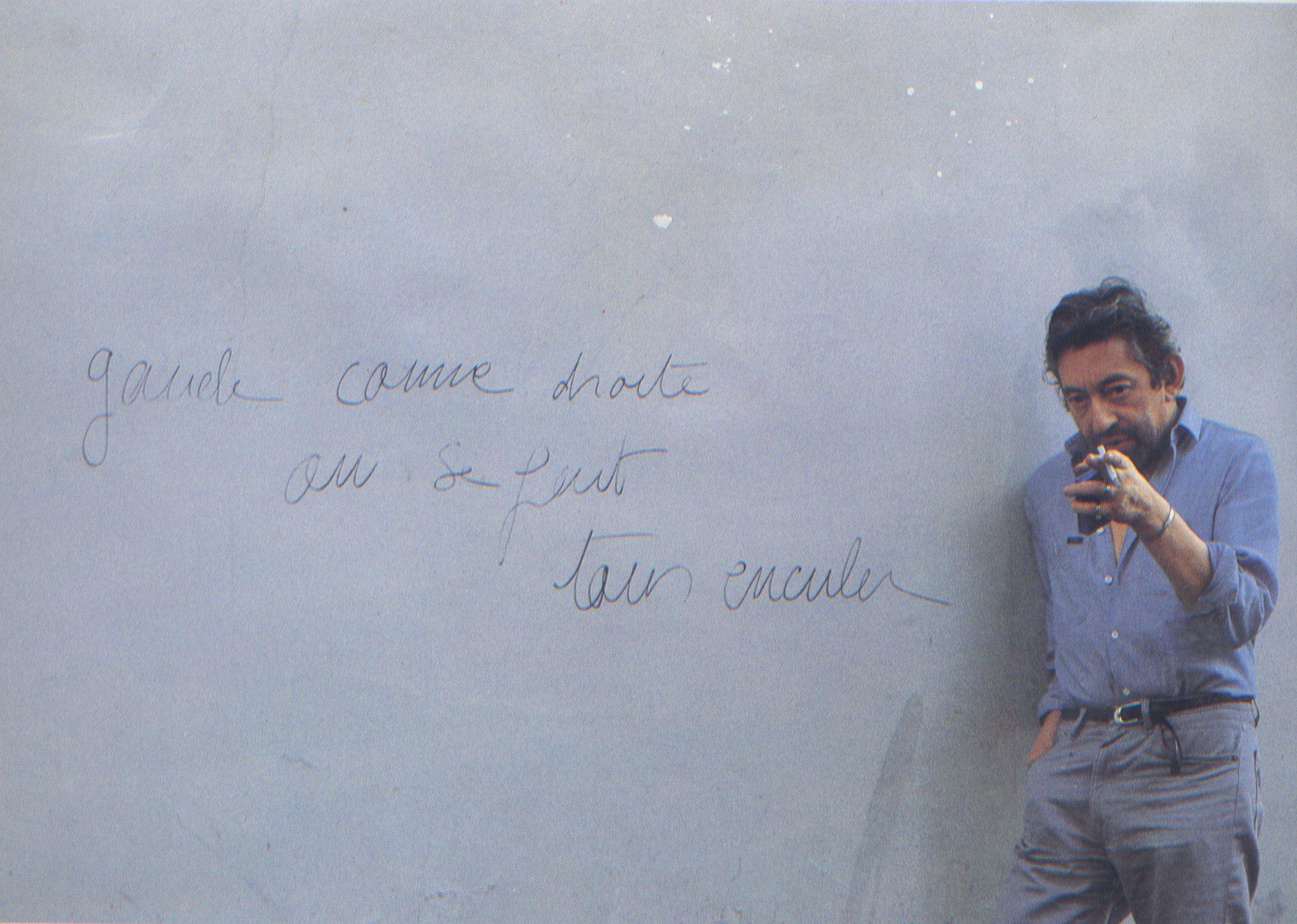 Gainsbourg rue de Verneuil - photo AG