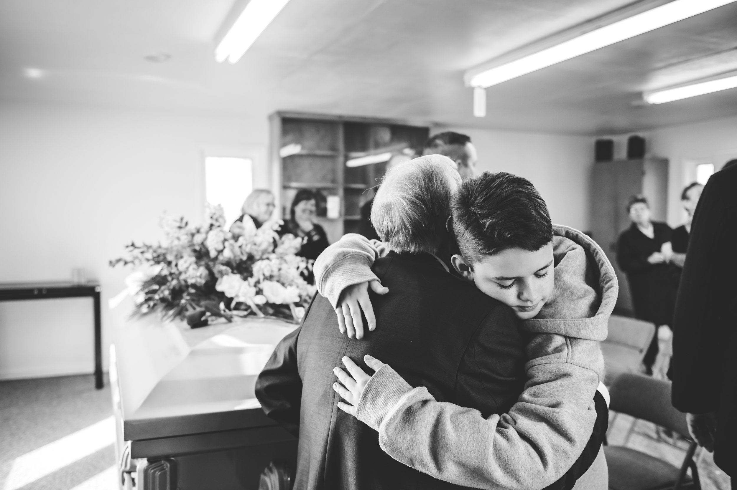 There are few photographic events in life that can capture the tenderness a family shares in their deepest moments of need.