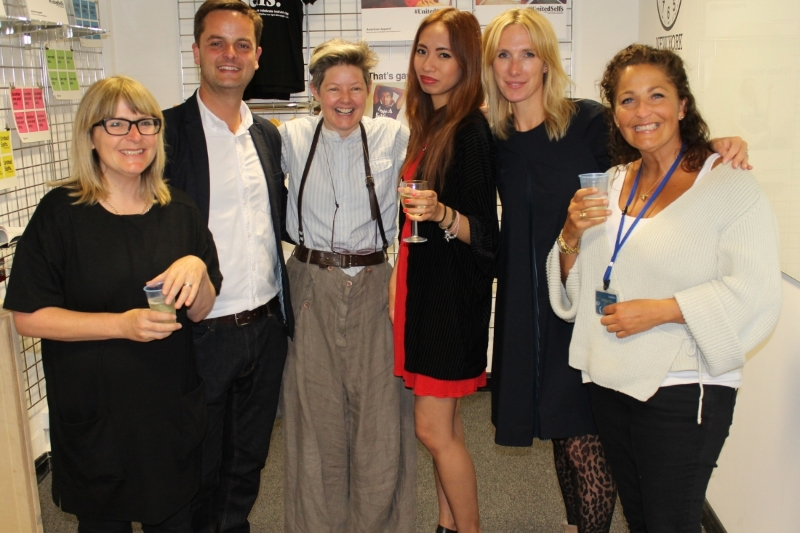 The team and students enjoyed a well earned celebration at the Private View last night, June 2014. Hannah Tagulao (centre in red dress) was selected for the Nancy Balfour annual award for outstanding student work; all smiles when she received the news, and information that the award comes as a £250 prize. Well done Hannah.