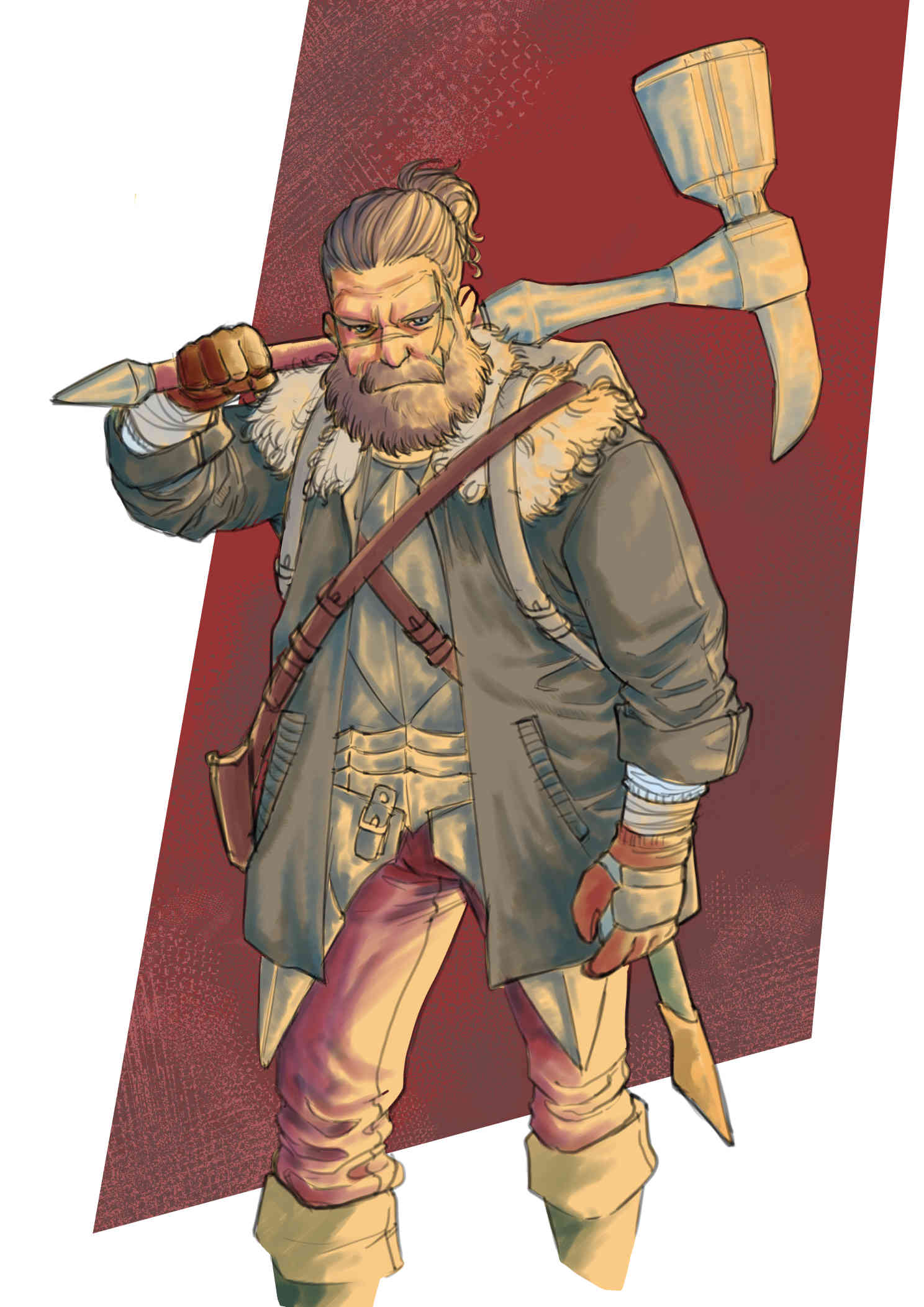 Arryn Warder Valley  - Digital Sketch, DnD character