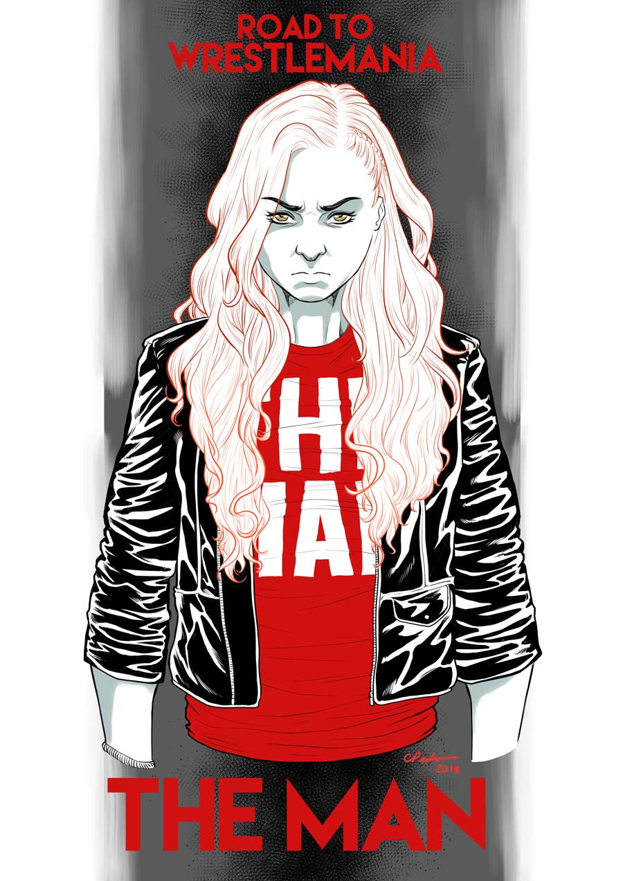 Becky Lynch  - Digital Sketch