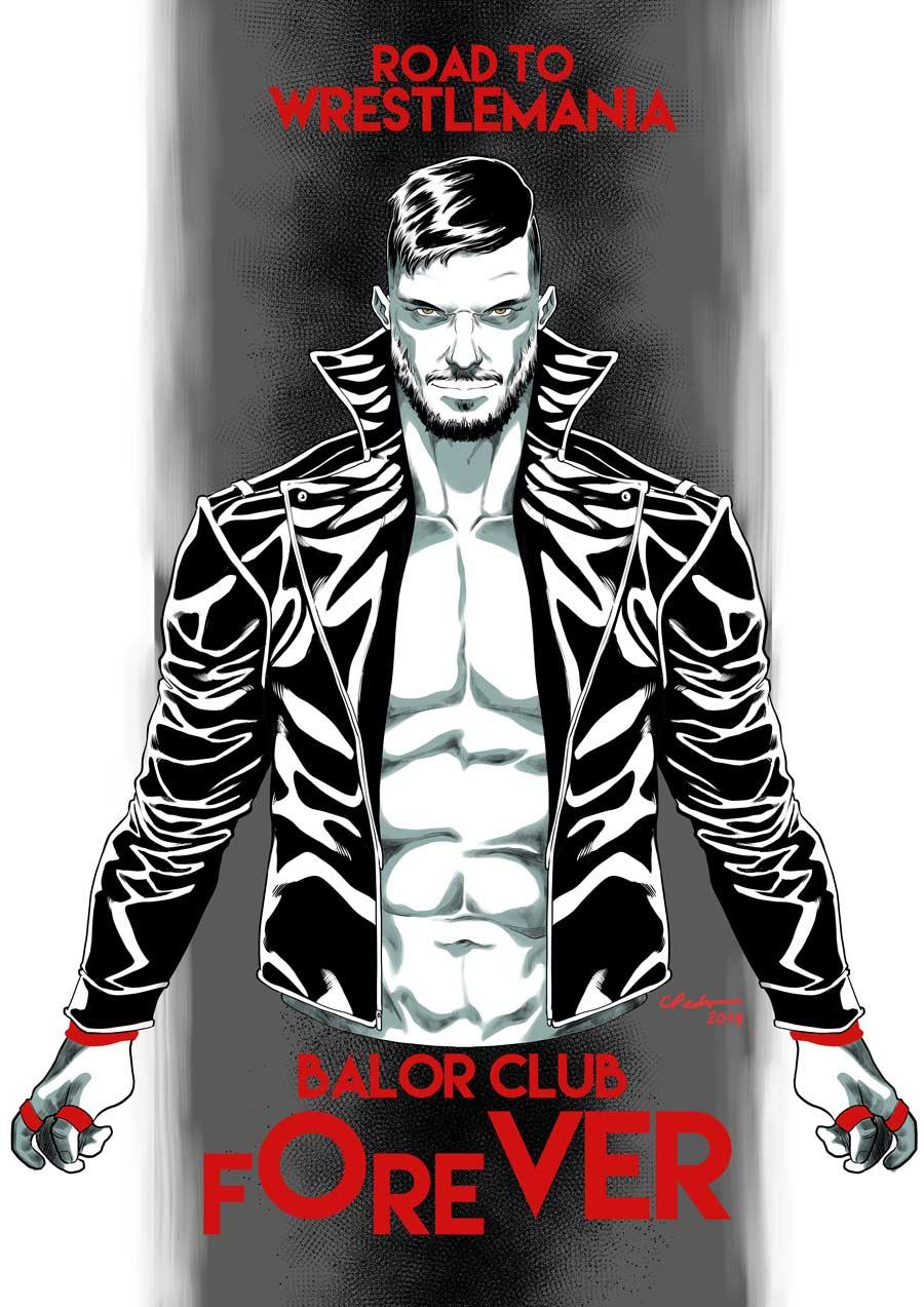 Finn Balor  - Digital Sketch