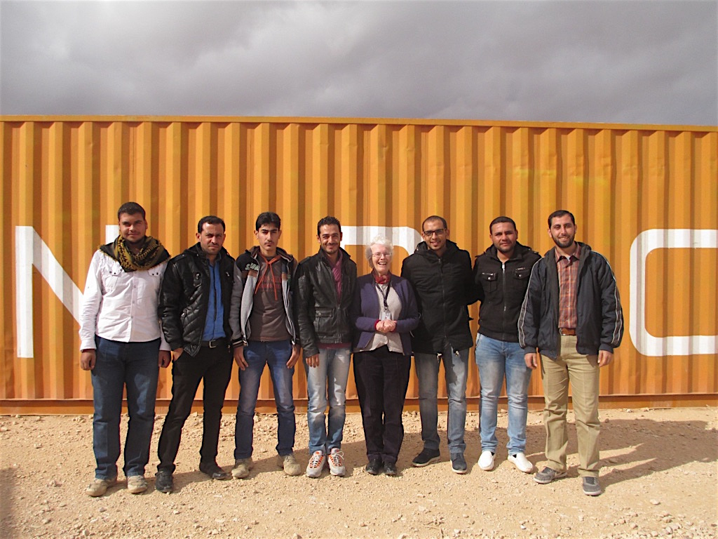Working with Syrian teachers in a refugee camp in Jordan