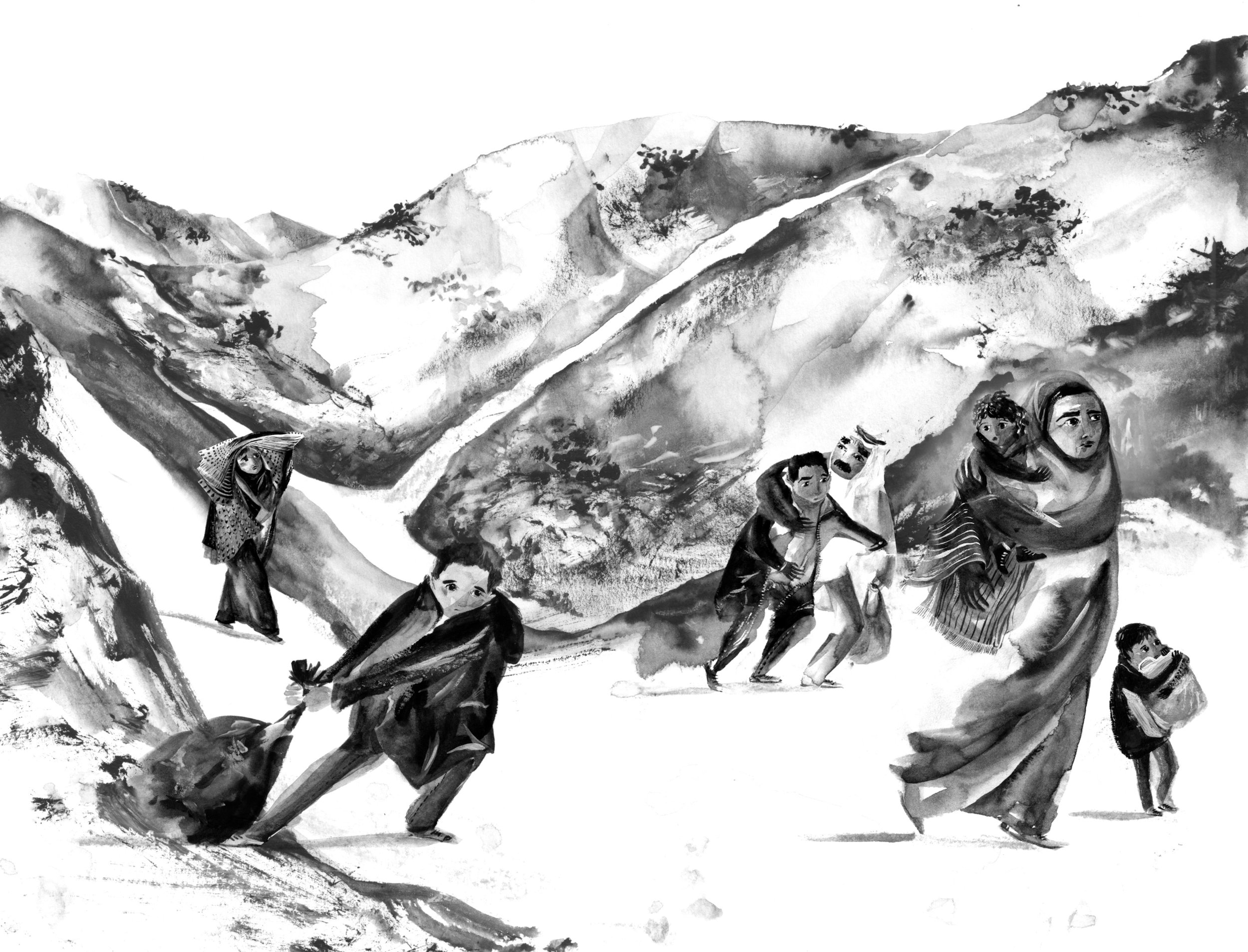 One of Lucy Eldridge's wonderful illustrations in  Welcome to Nowhere