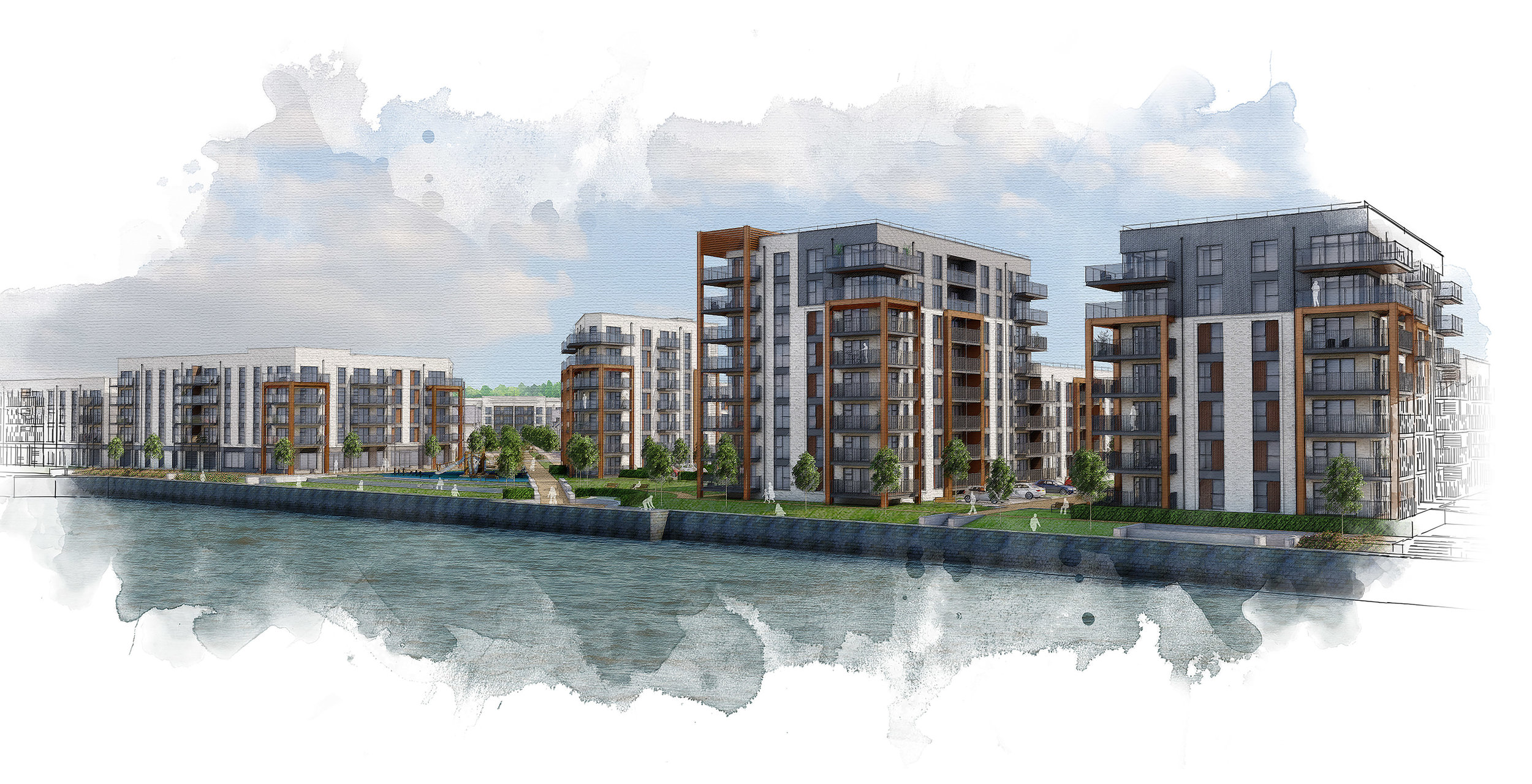 View from the River Thames - Image Credit Copper Bailey Architects
