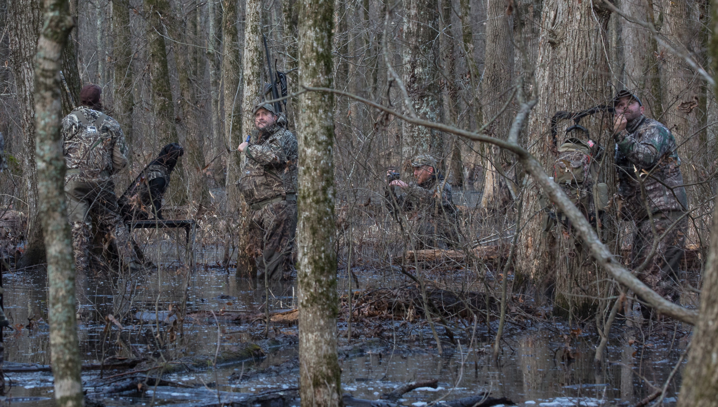 filming with Chad Belding of  the fowl life