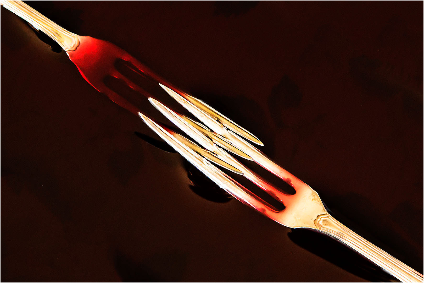 Forks in Red Wine