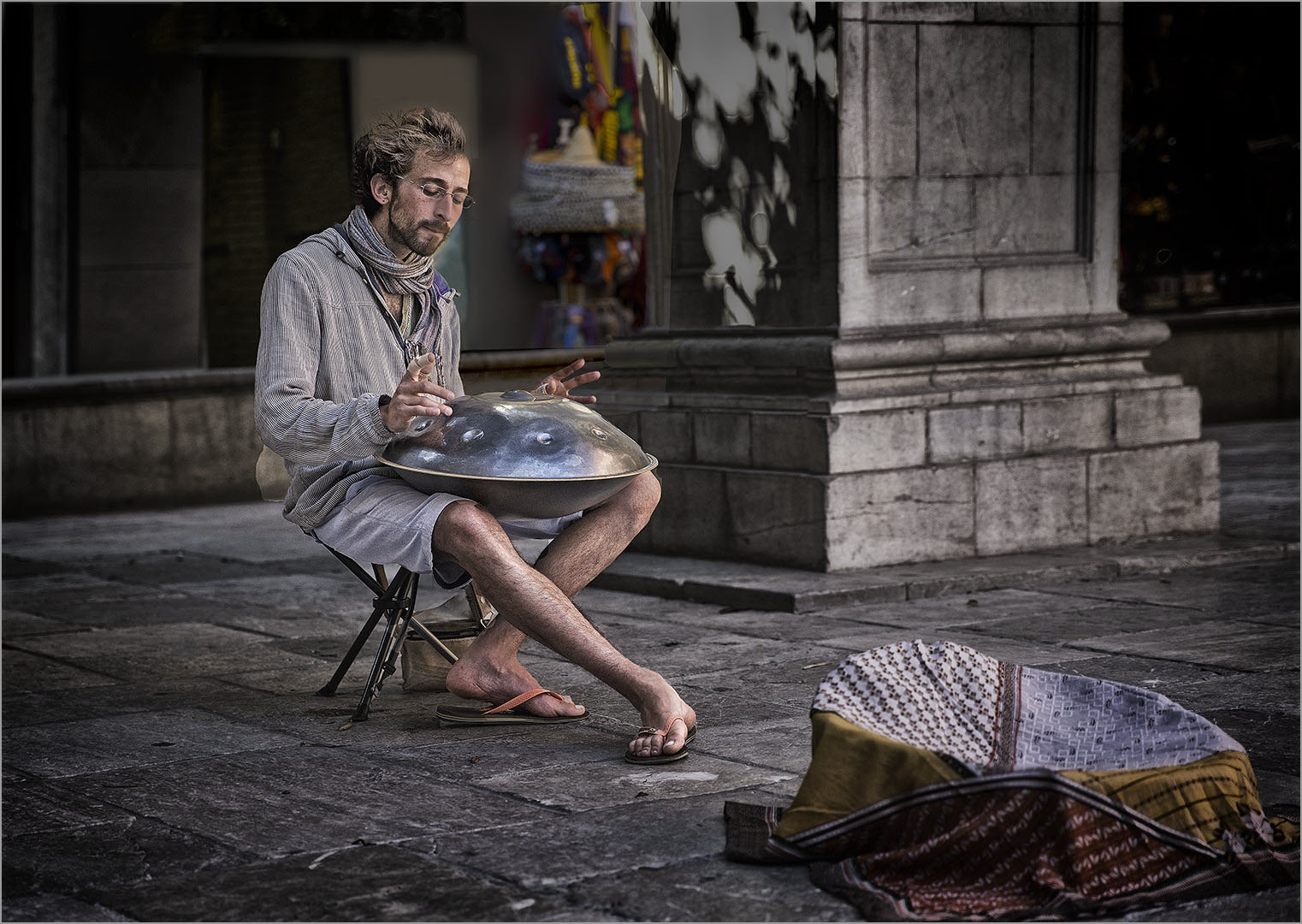 Hang Drum Player
