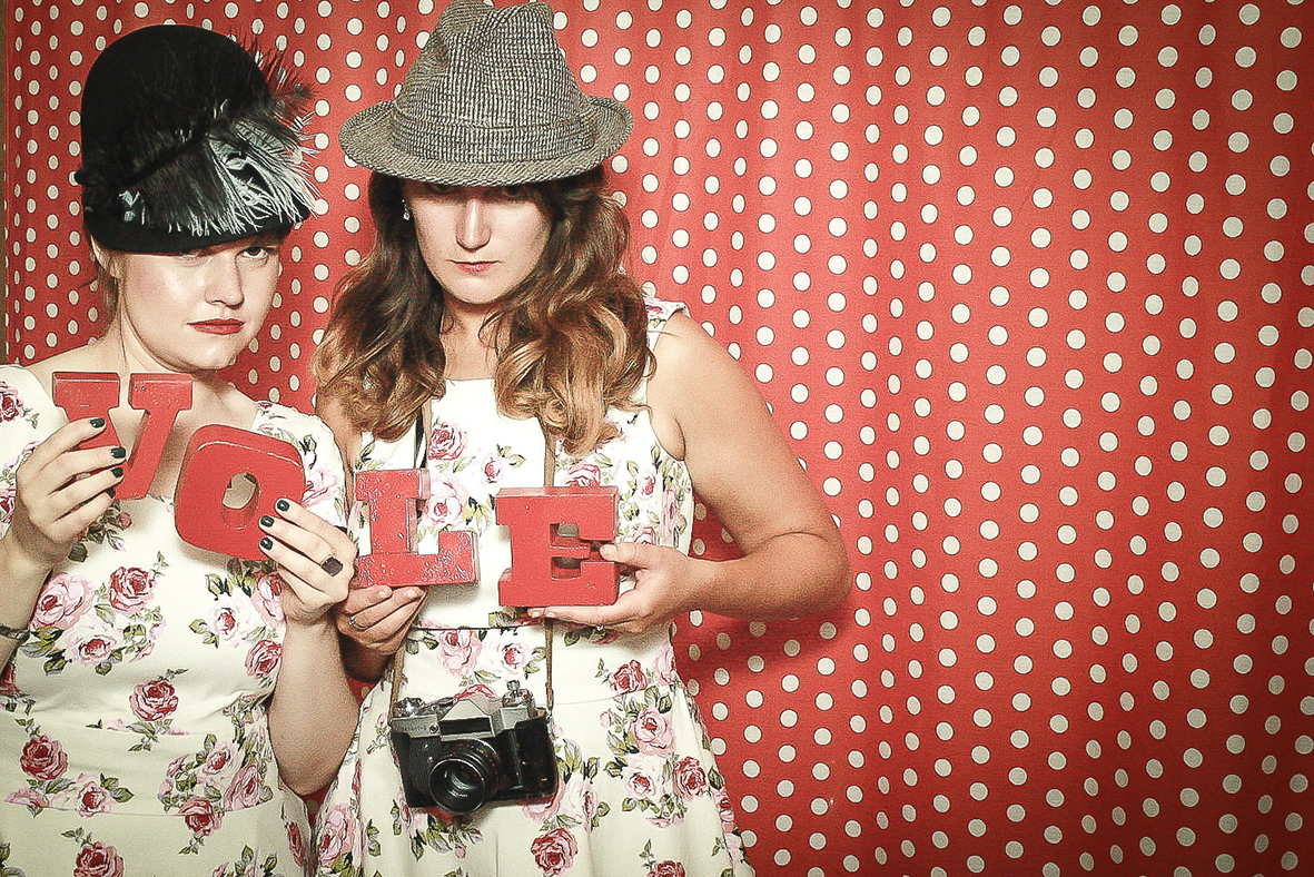 Gladys & the Bubblettes Wedding Photo Booth Prestonfield House