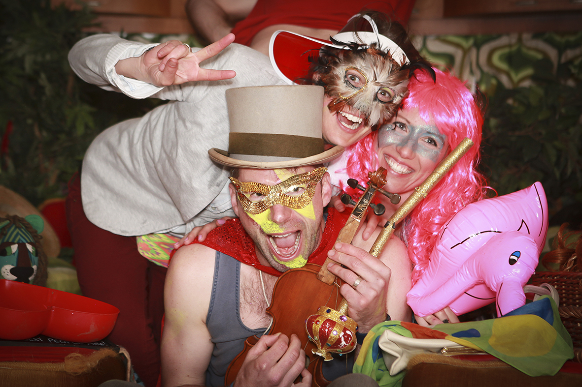 Glastonburgh caravan festival photobooth