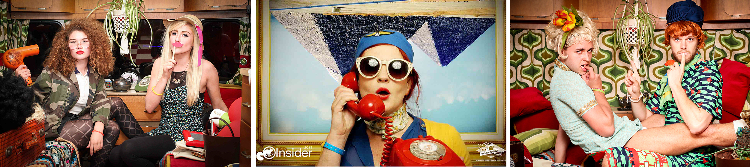 Gladys and the bubblettes photo booth experience, Scotland - Specialists in creative, immersive & theatrical fun, the most authentic & original photo booth UK.