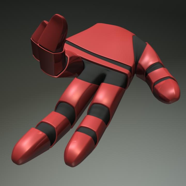 Studies for robot hand.
