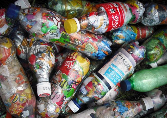 Stock photo of Ecobricks