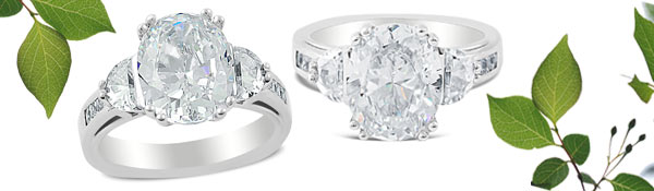 Glamour and beauty combine in our new Acclaimed engagement ring. Featuring a stunning oval center and half moon side diamonds, this ring is sure to delight.