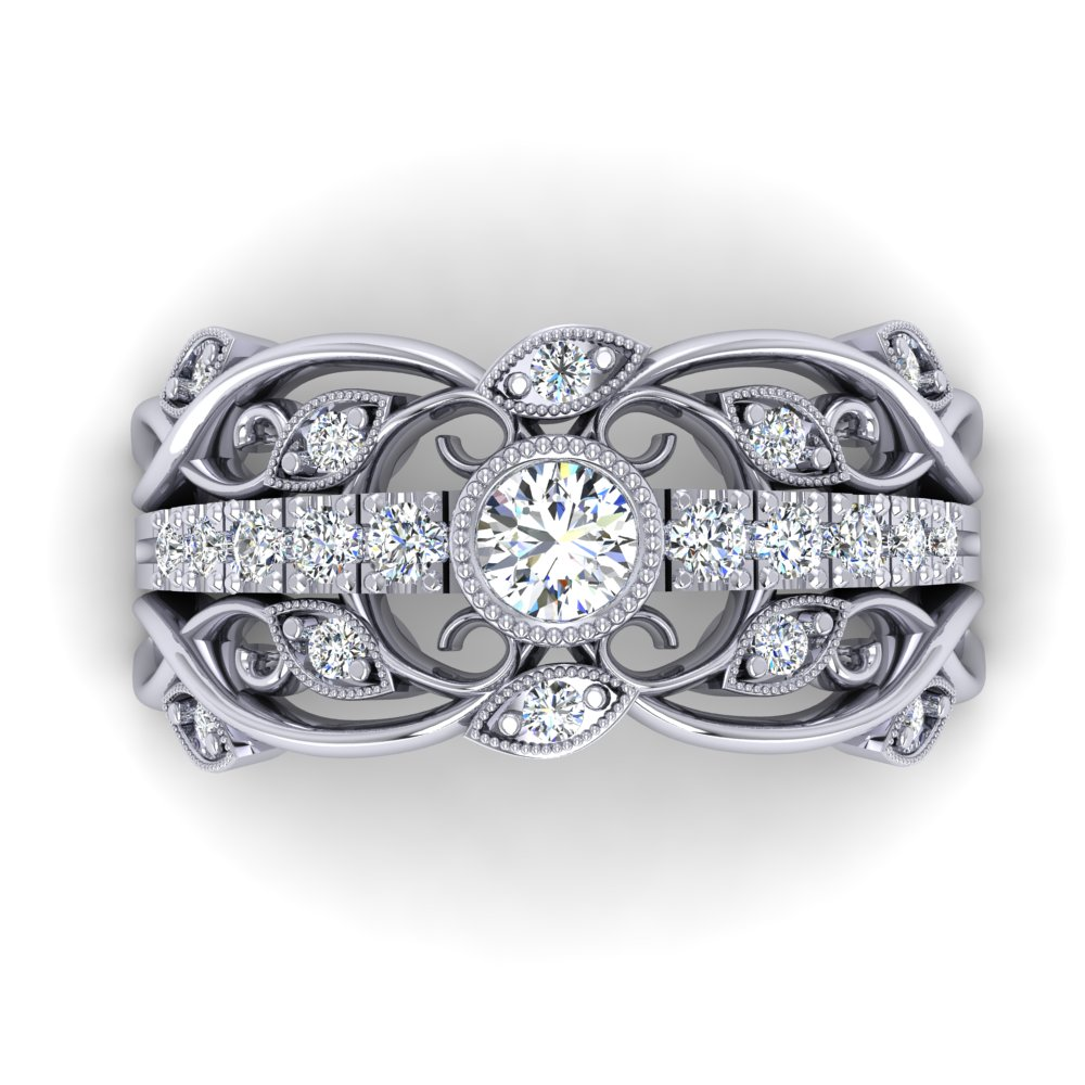 Filigree Wedding Ring Pave Vine Leaf Milgrain.jpg