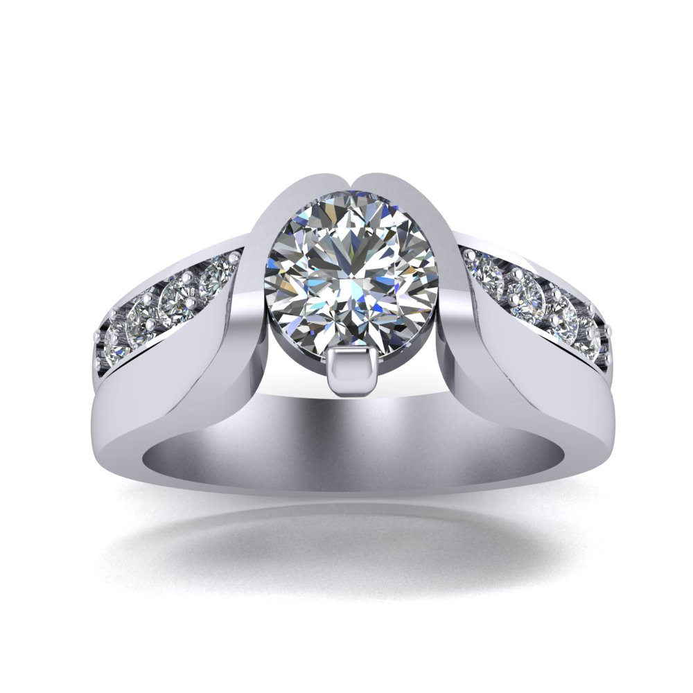 modern contemporary engagement ring with direct set diamond.jpg