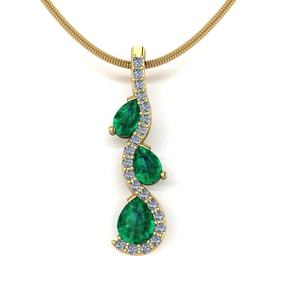 modern contemporary wave shape pendant with emeralds and diamonds.jpg