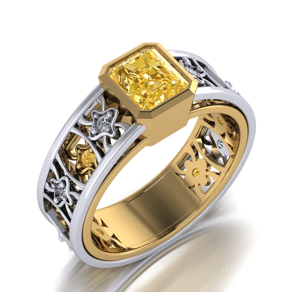 bold contepmorary yellow diamond ring in two tone gold.jpg