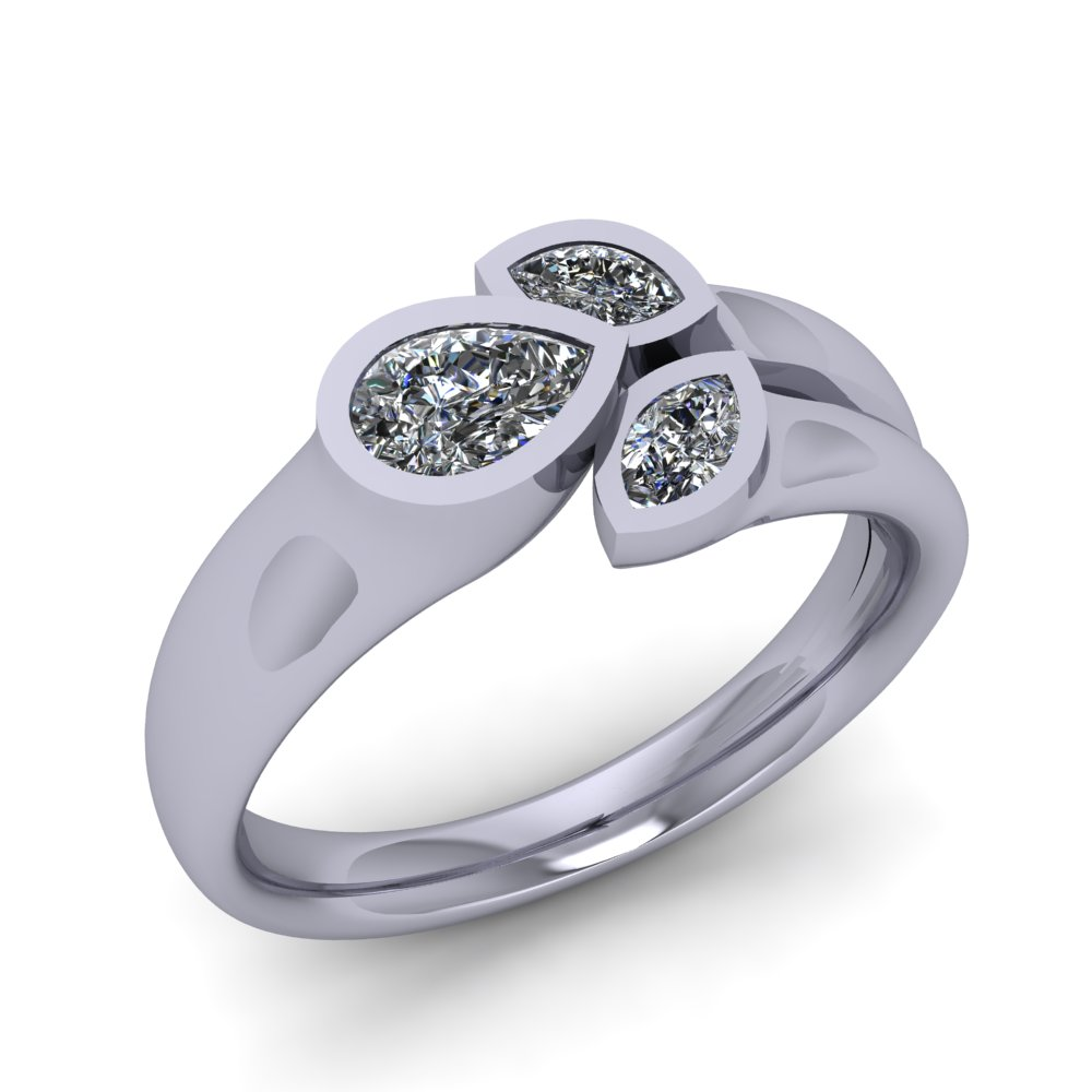 modern diamond ring with pear and marquise shape diamonds.jpg