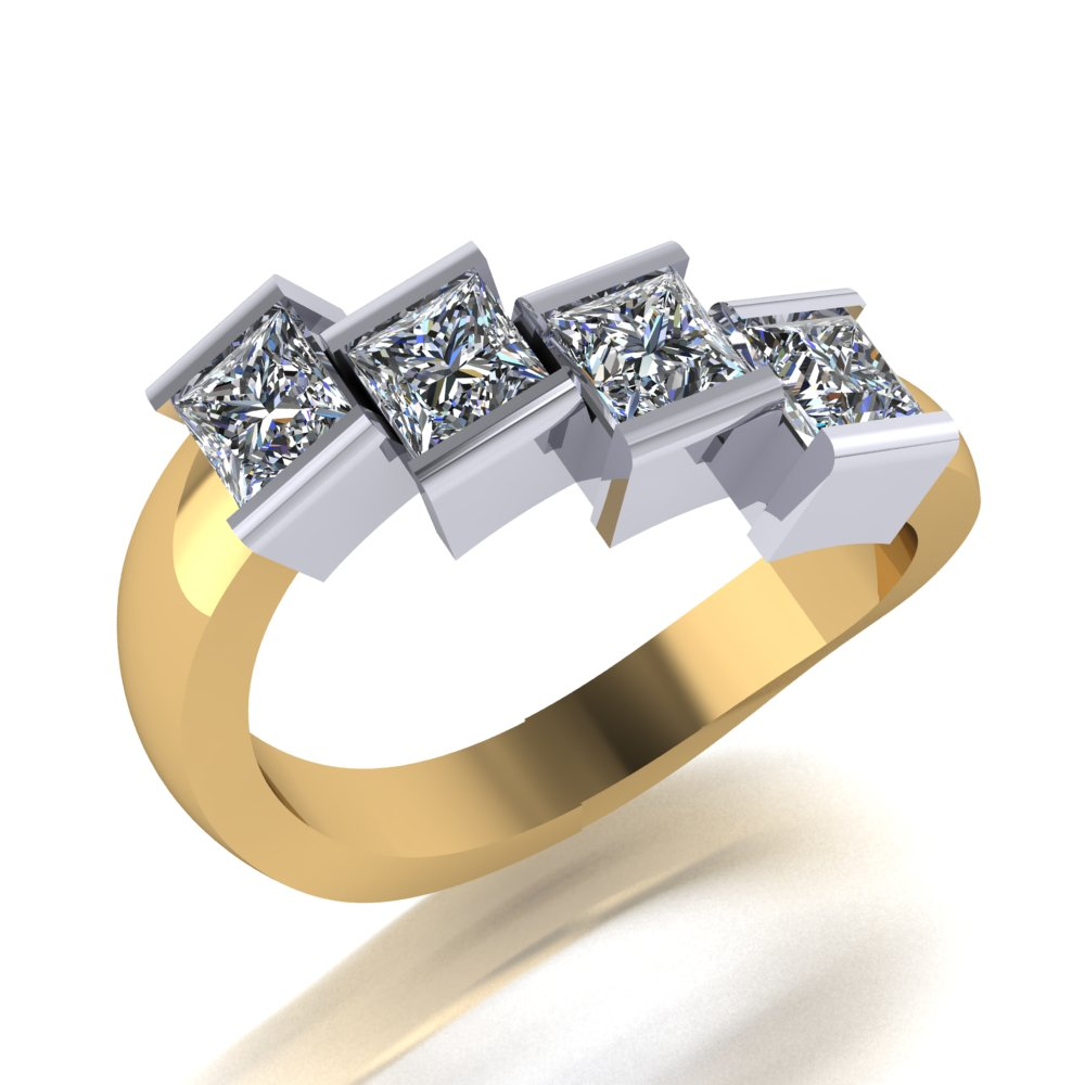 Unique stagered step ring set with princess cut diamonds.jpg