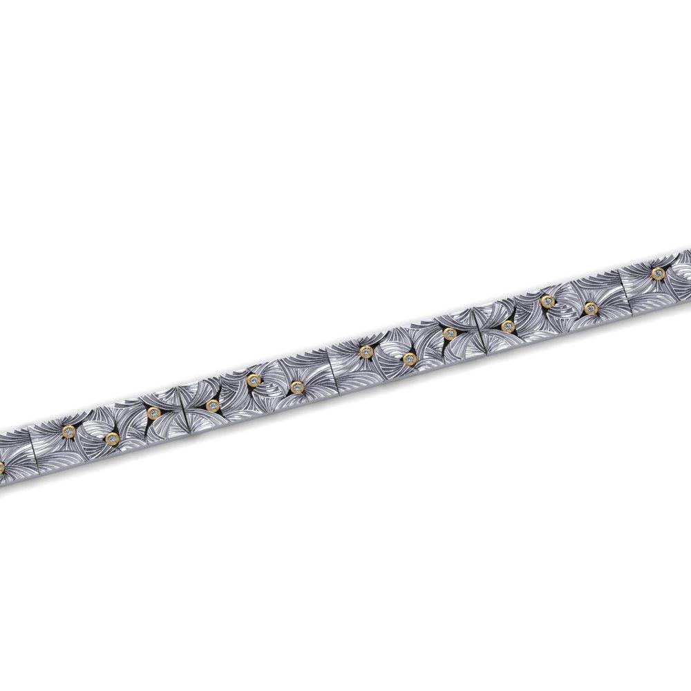 unique engraved pattern diamond link bracelet.jpg