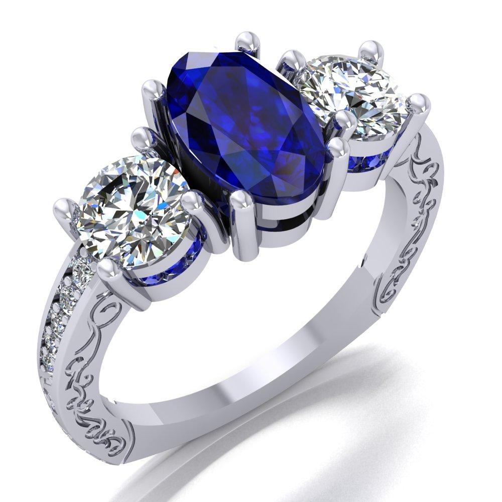 Sapphire Diamond Ring with Filigree White Gold.jpg