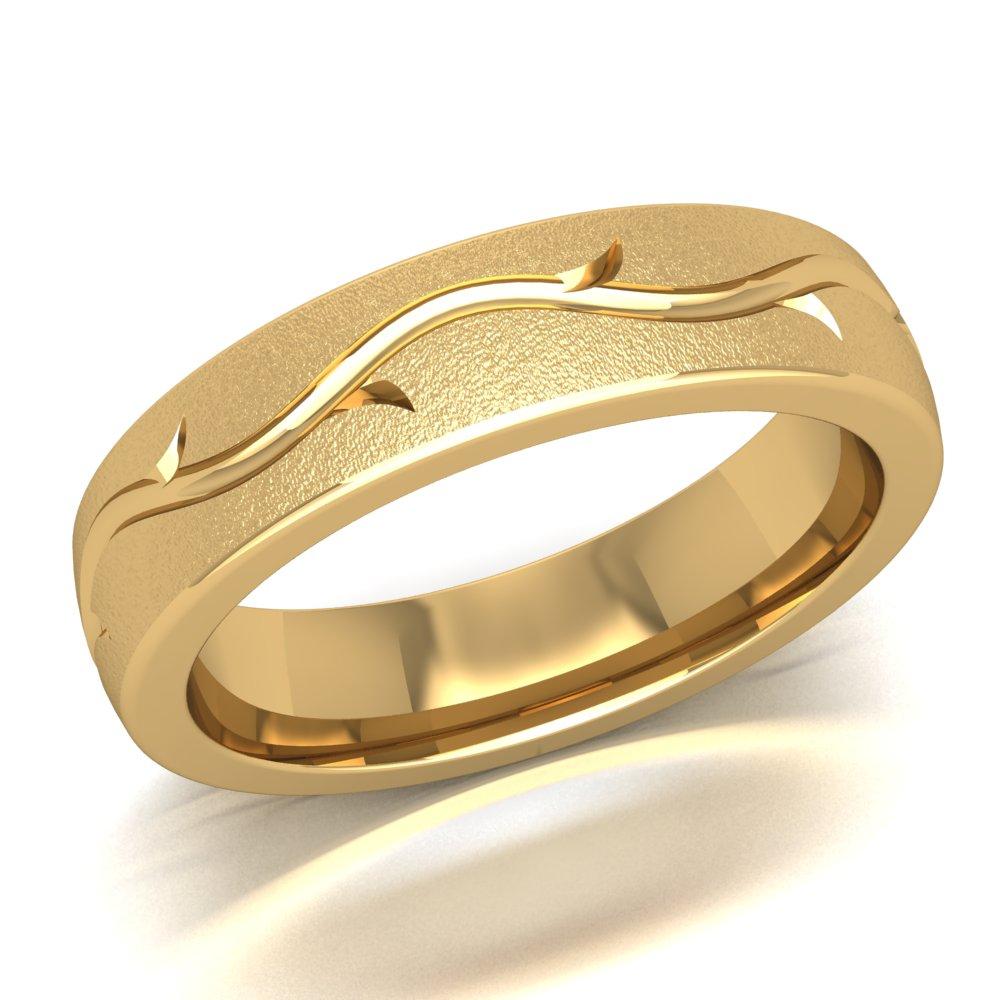 Thorn Vine Ring Yellow Gold Men's Wedding Ring.jpg