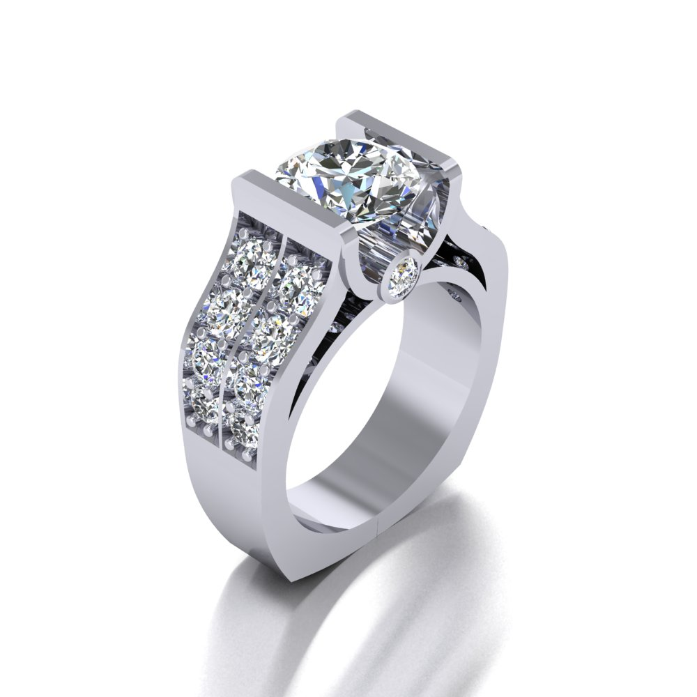 bold modern enggement ring double row pave sides.jpg