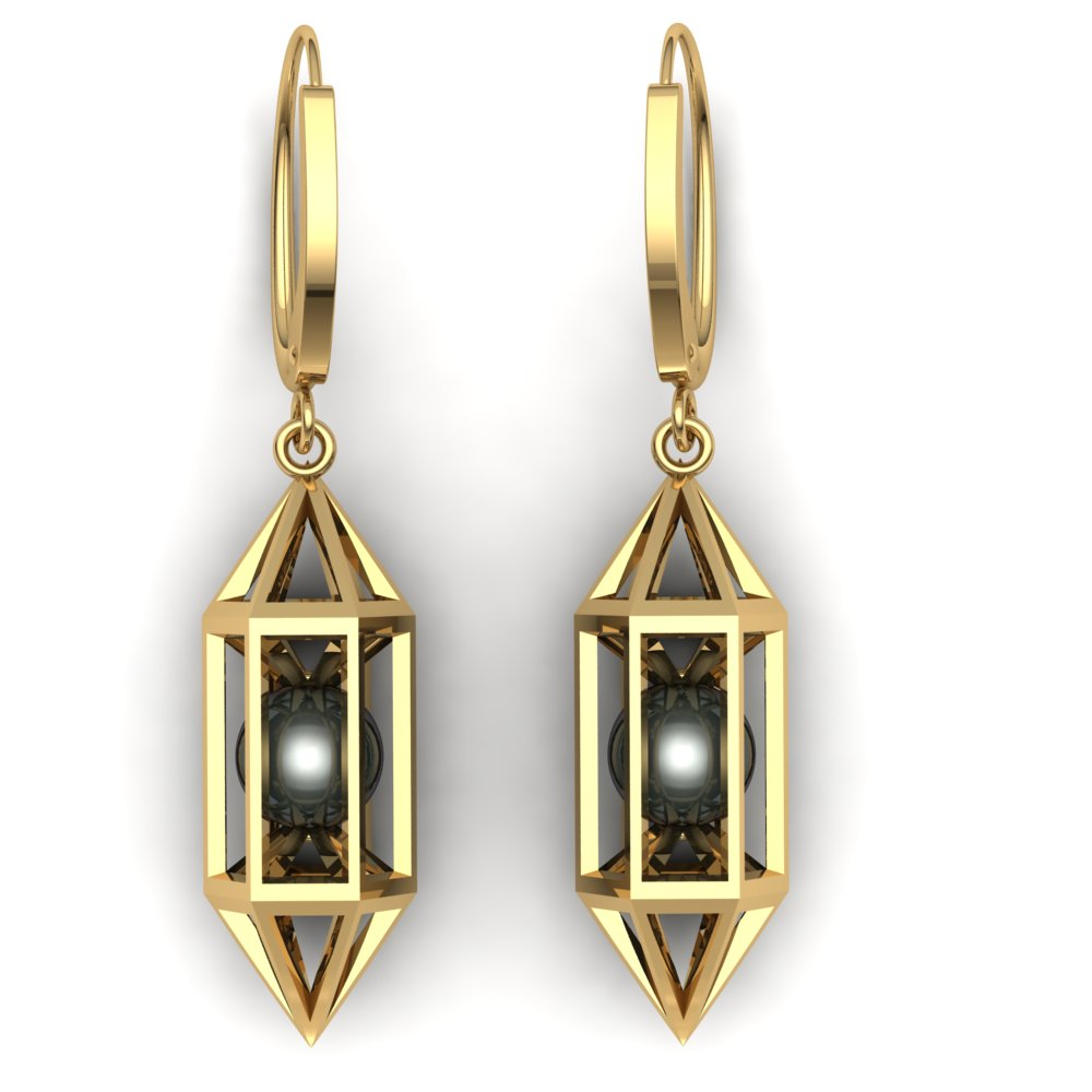 modern lantern earrings tahitian pearls yellow gold.jpg