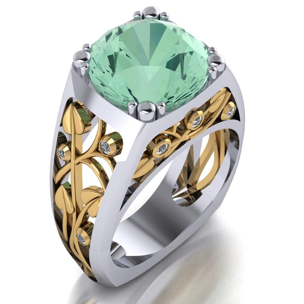 unique mint tourmaline diamond ring leaf design.jpg