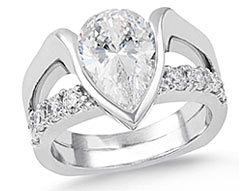 11. Make a bold statement with our Unforgettable wide and modern engagement ring.