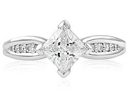 10. With a kite-set center stone and a sleek tapered diamond band our Rapturous engagement ring will be loved for years to come.