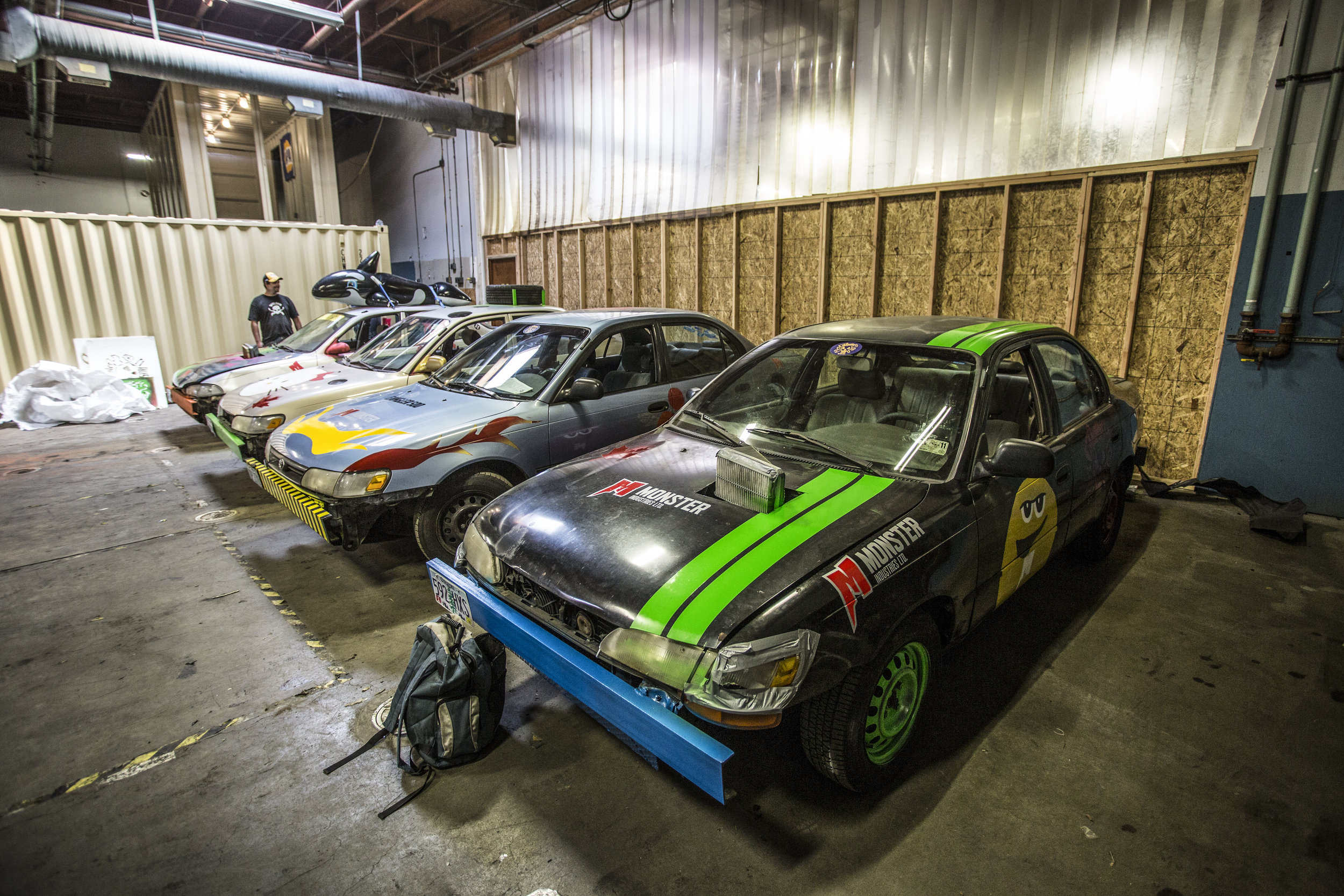 Monster Industries, (  monsterindustries.ca )  a Canadian construction and maintenance company, used the Gambler 500 as a corporate retreat. They bought matching Corollas and came in a day before the race to modify each to their own style.