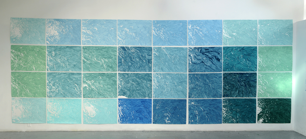 The work as installed during my residency at the Banff Centre.