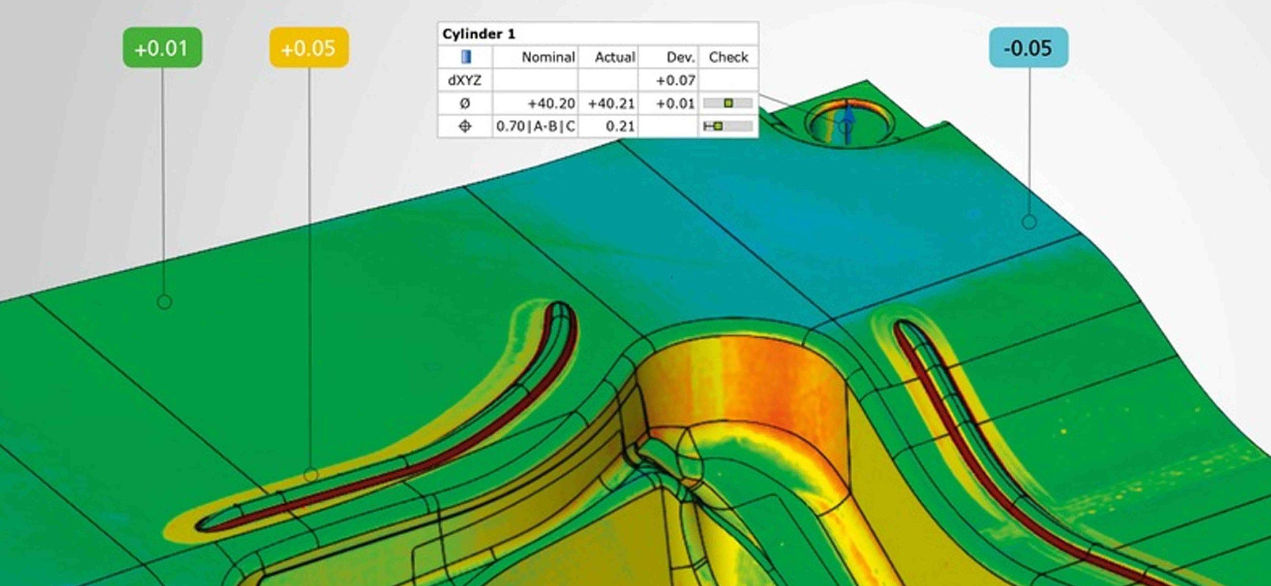 GOM Inspect Software - Software de evaluación para nubes de puntos 3D
