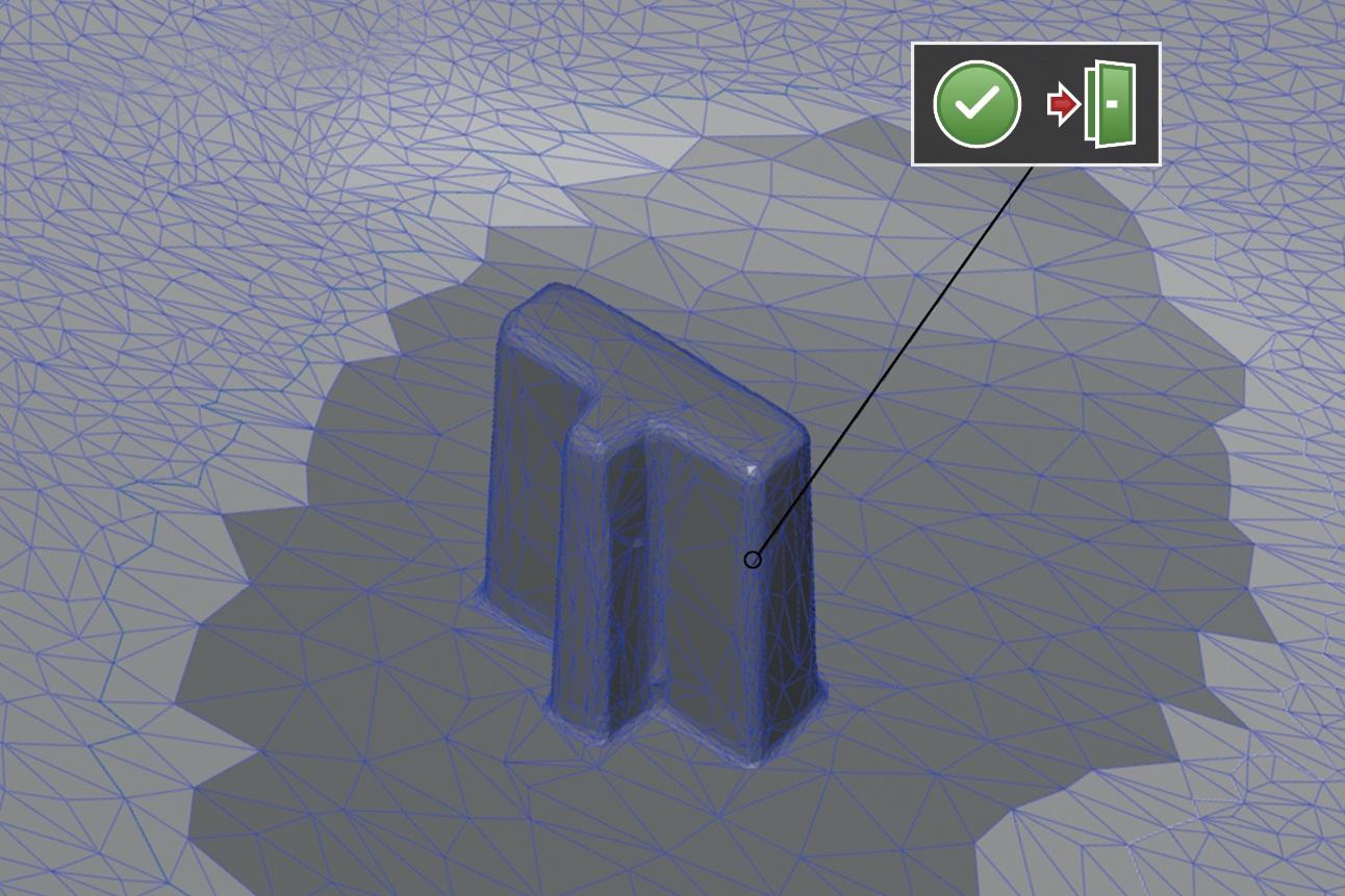 Procesamiento de malla - Las mallas de polígonos pueden ser suavizadas, reducidas y redenidas. Los vacíos en la malla pueden ser rellenados y las curvaturas pueden ser retiradas. El software provee una vista previa en vivo de cada cambio que se realiza.
