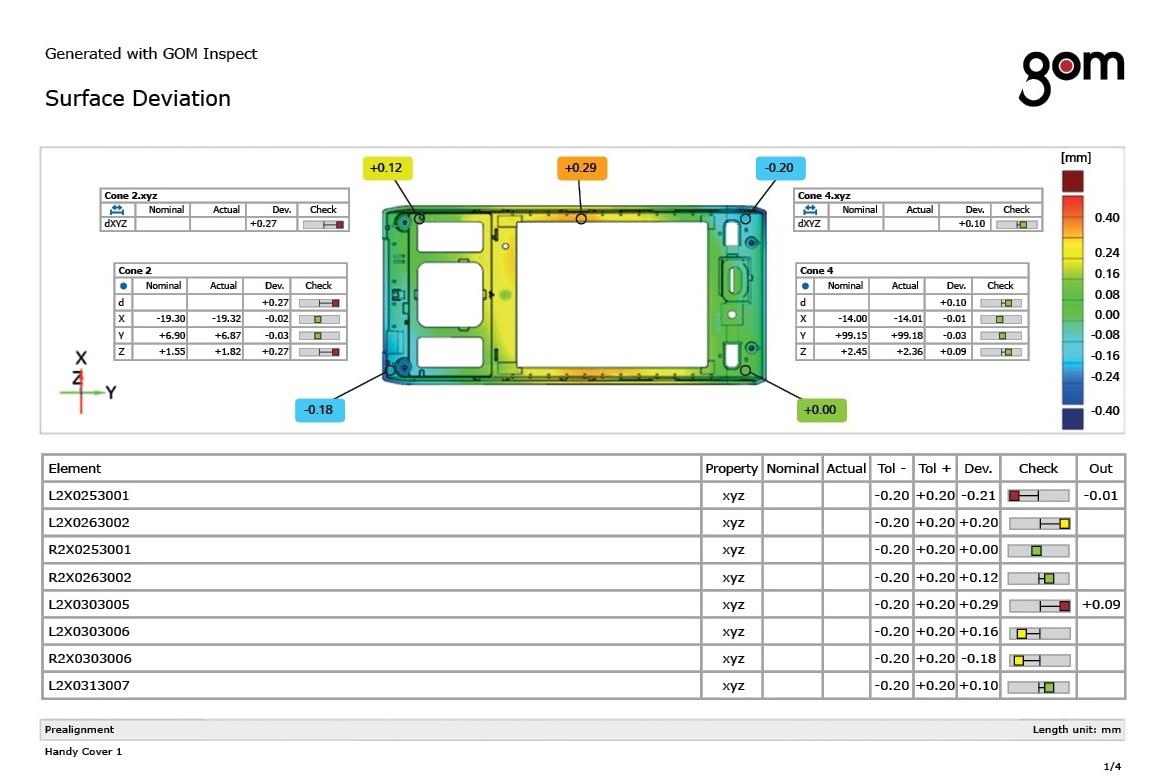 Informes Técnicos - El módulo informes cuenta con una plantilla personalizable orientada a la inspección. Incluye imágenes, tablas, diagramas, textos, gráficos que pueden ser guardados para futuros usos en formato PDF.