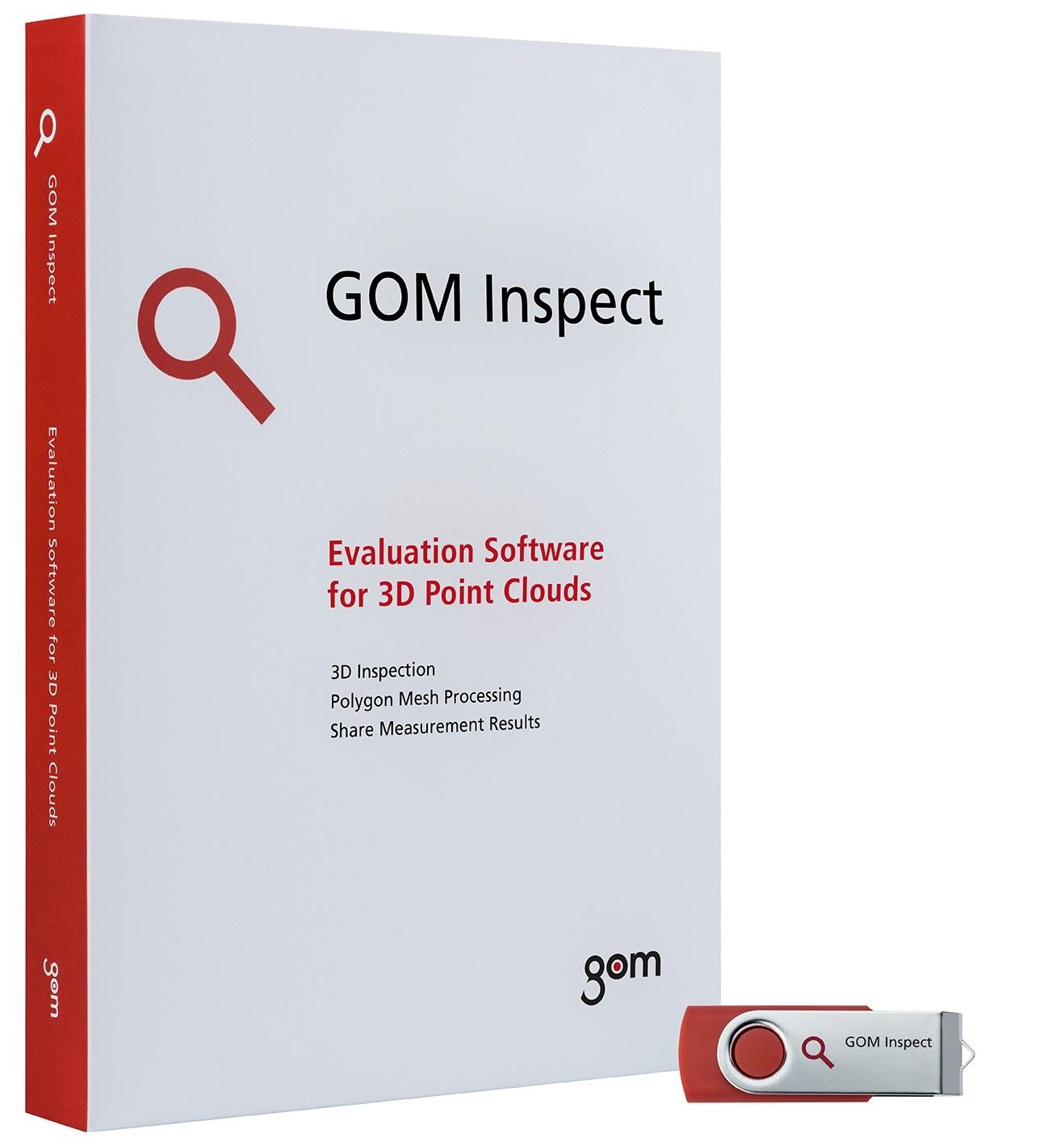 - Con el fin de garantizar la precisión de la medición, tanto el software GOM Inspect Professional como el software GOM Inspect han sido probados y certificados por las instituciones de PTB y NIST. La precisión del software de evaluación se prueba comparando los resultados del software con los resultados de referencia. El software GOM se ha colocado en la Categoría 1, la categoría con las desviaciones de medición más pequeñas.