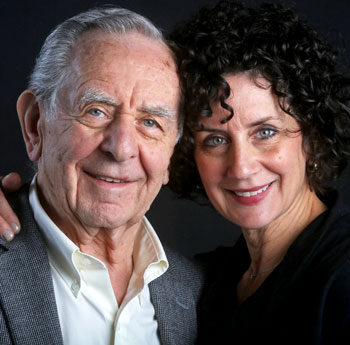 Audrey Unger Reich with her father Ron Unger