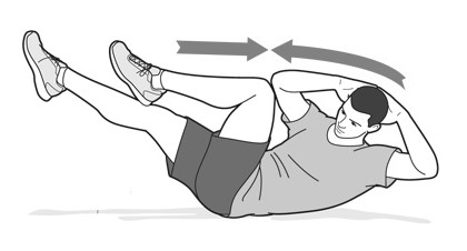 example of bicycle sit-ups