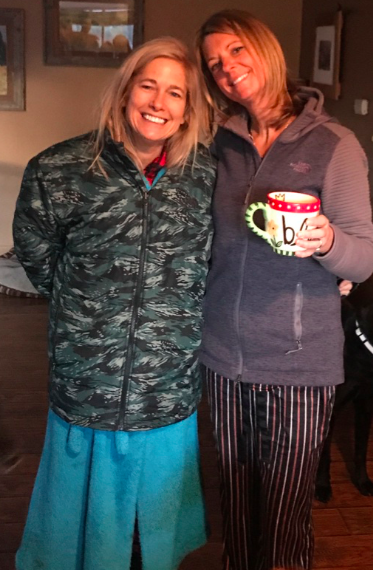 Just a typical morning for me and my good friend Eileen!