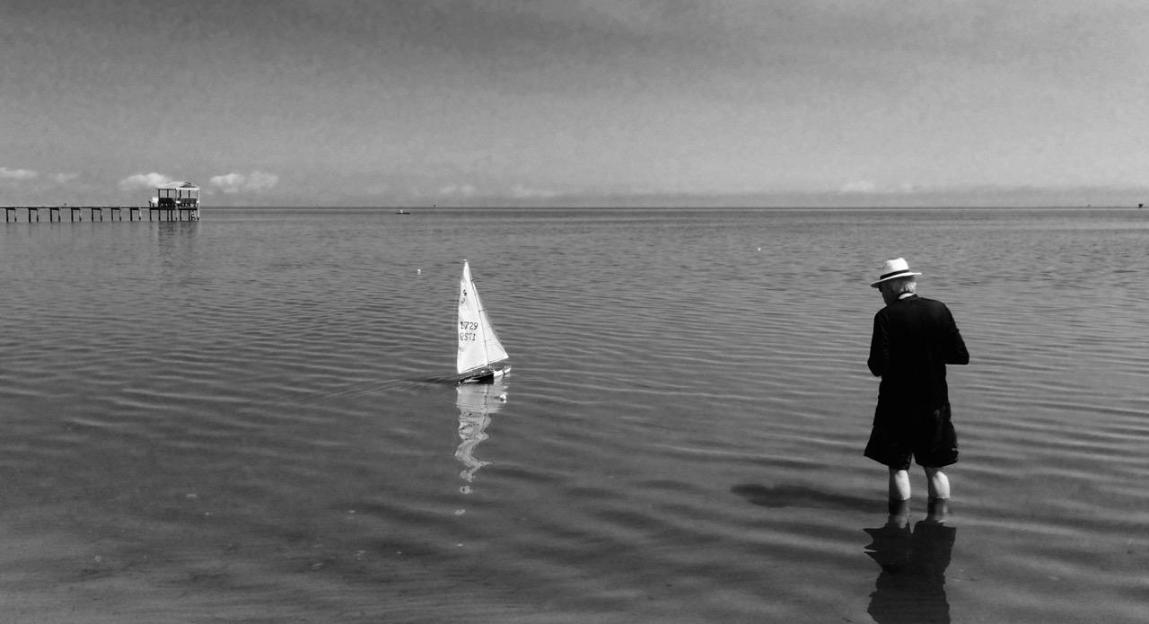 Bob and his remote control sailboat, 2016