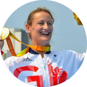 Anne Dickins MBE   Paralympic Canoe Gold Medallist