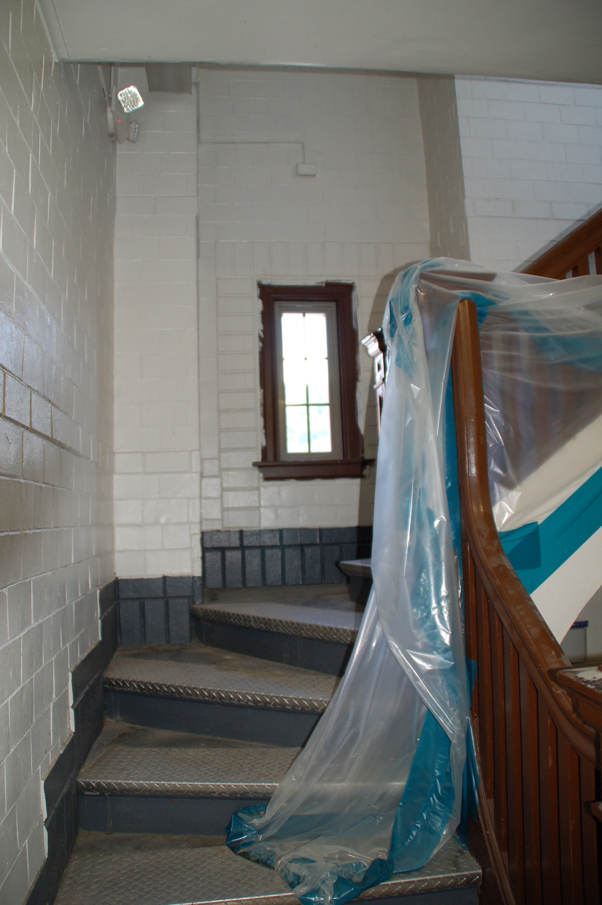 Stairs up to the 2nd floor room.