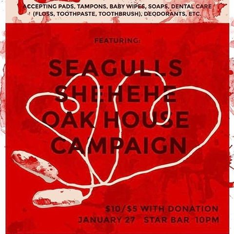 Tonight at Star Bar! Stoked to help raise money for @thepeachcoven with our good buds @seagullsatl and @shehehe. It's a good cause some come out. We're out the gate first so get there early!