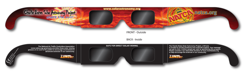 Charlie Bates Solar Astronomy Project Eclipse Glasses