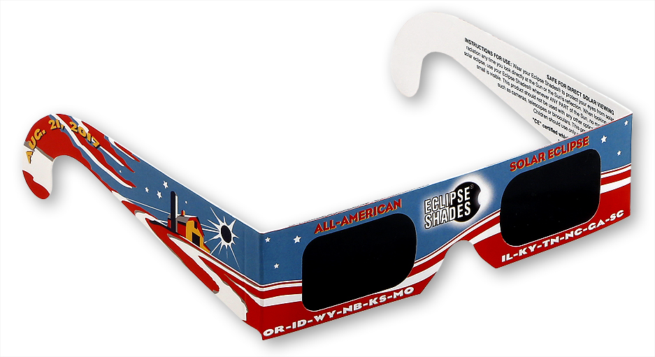 All American Eclipse Glasses- Safe Solar Glasses- Eclipse 2017 Limited Edition   Shop Here