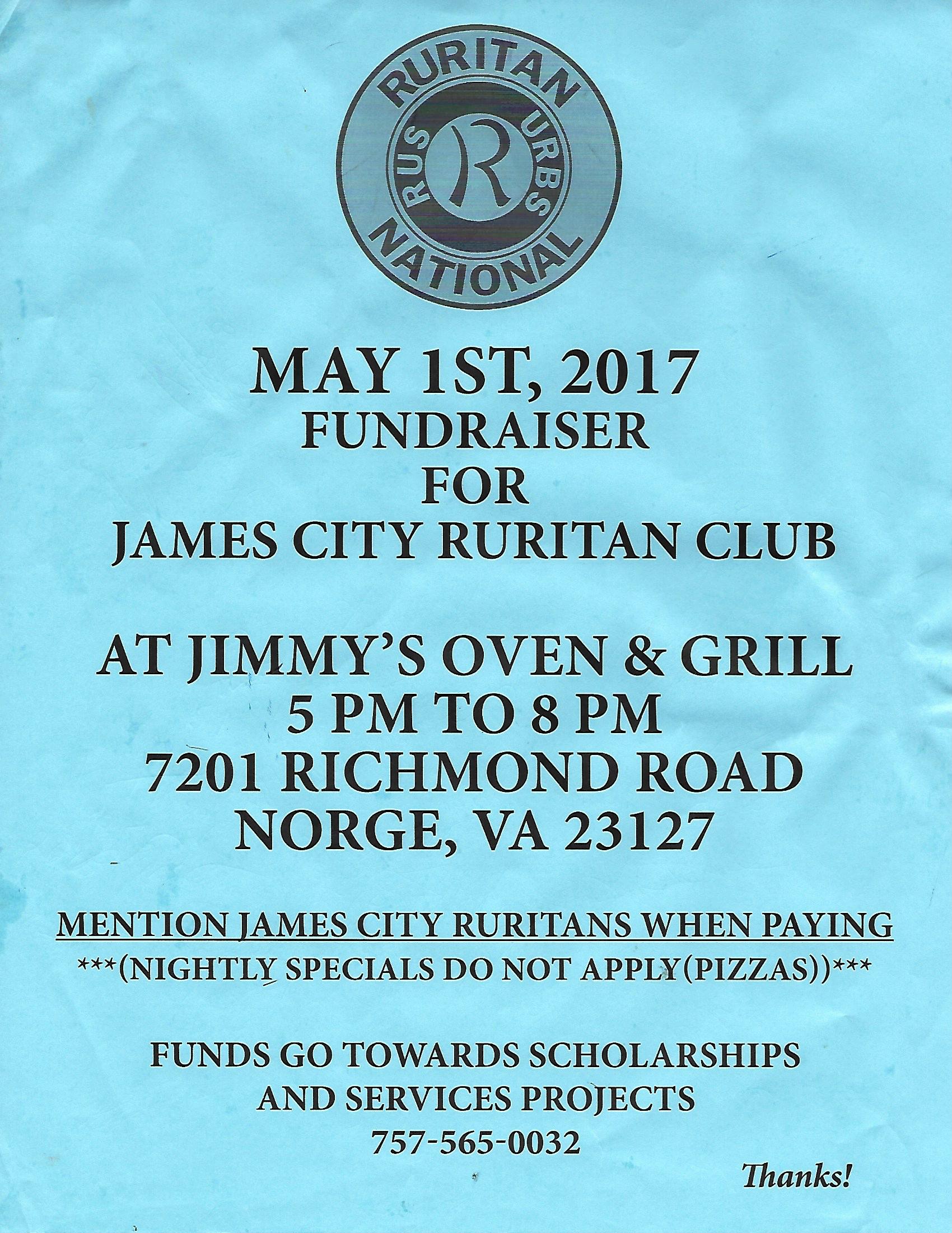 Ruritan Fundraiser