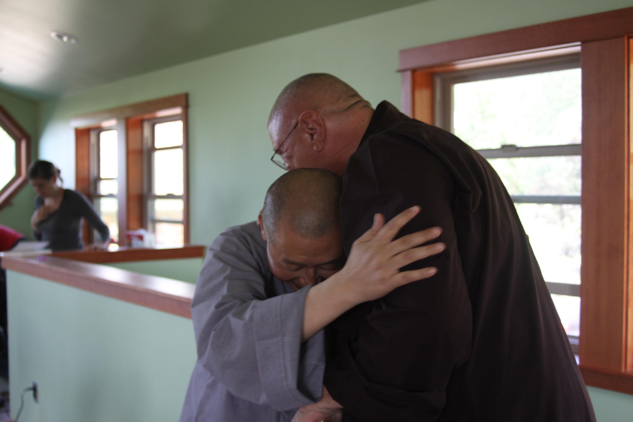 monk hug