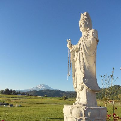 Guanyin watching over Trout Lake Abbey